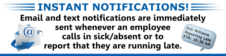 Staff Call In Sends Instant Notifications